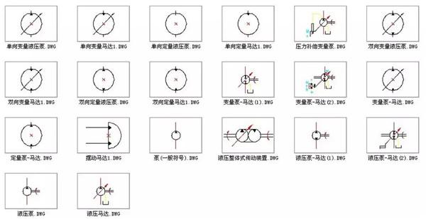 液压系统的基础常用液压符号图片