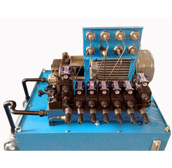 汽车四工位冲孔机液压系统
